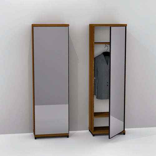 Шкаф с зеркалом FlashNika Loft ПЛ-17 50