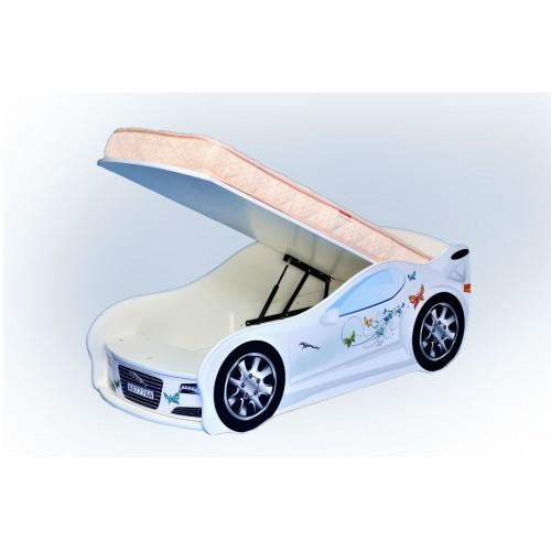 Кровать-машина Mebelkon Jaguar для девочки с механизмом