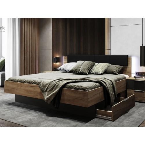 Кровать Miromark Луна мягкая спинка с ящиками