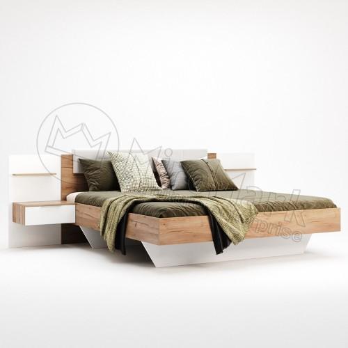 Кровать Miromark Асти мягкая спинка с тумбами