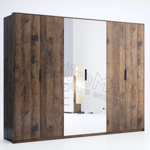 Шкаф Miromark Квадро 6Д с зеркалами