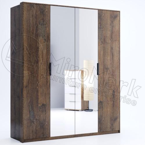 Шкаф Miromark Квадро 4Д с зеркалами