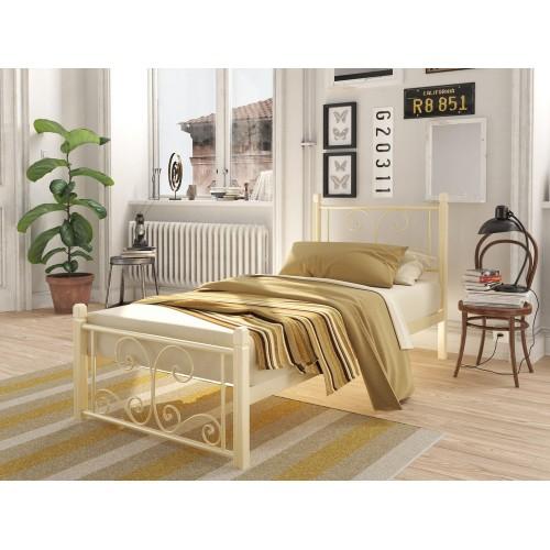 Односпальная кровать на деревянных ногах Нарцисс мини Tenero