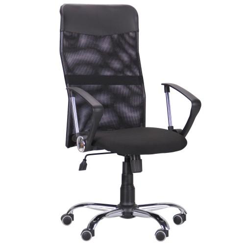 Кресло Ultra Хром сиденье А-1/спинка Сетка черная, вставка Скаден черный AMF