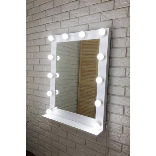 Макияжное зеркало с подсветкой Мики с полкой Facet