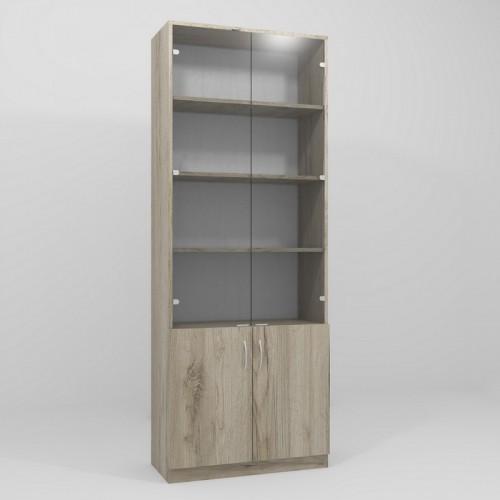 Шкаф офисный со стеклом Континент ОШС-1