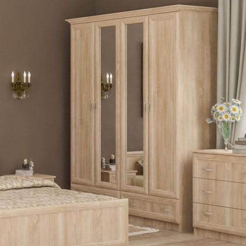 Шкаф Соната 4Д Мебель-Сервис