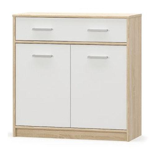Комод 2Д1Ш Типс Дуб самоа/Белый Мебель-Сервис