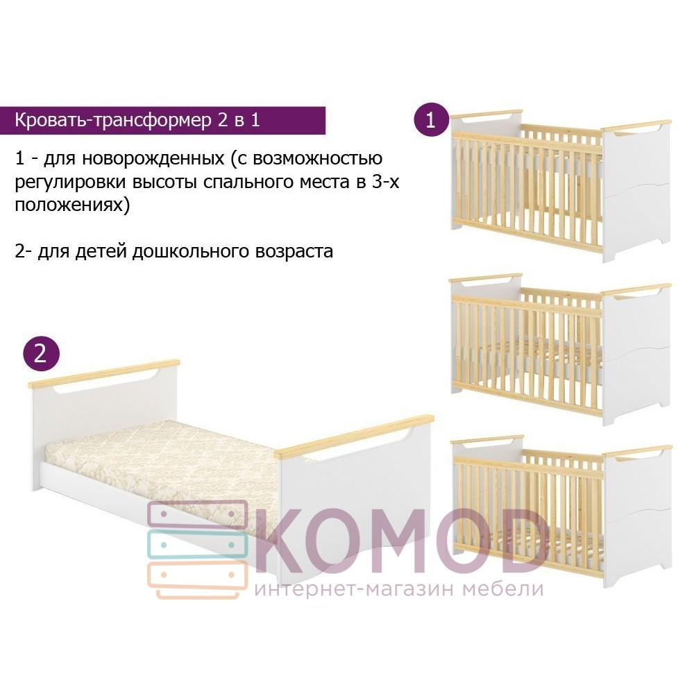 Детская кроватка Немо MebiGrand