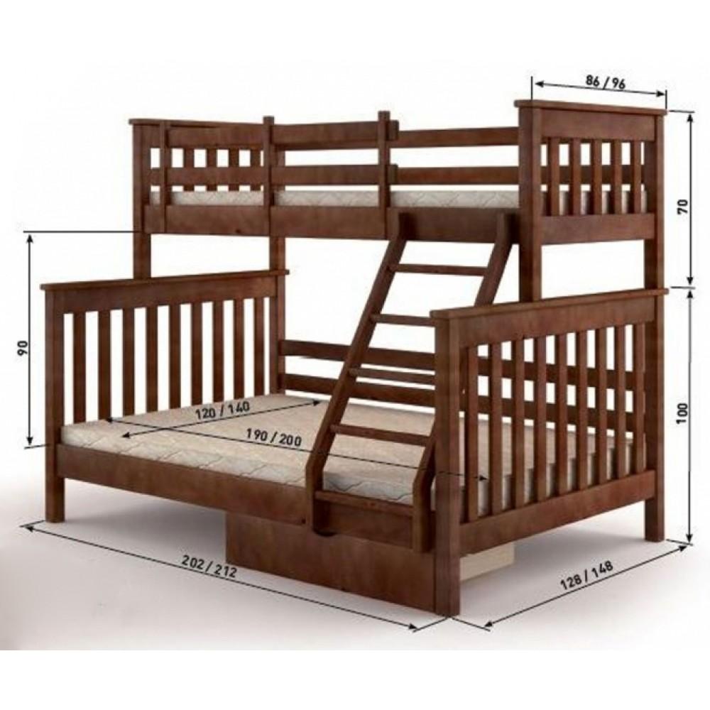 Семейная кровать Скандинавия MebiGrand