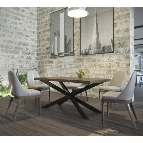 Стол обеденный Икс 160 Металл-дизайн