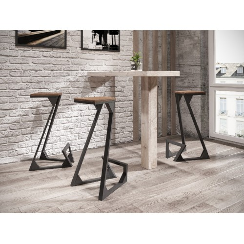Барный стул Зетт (Дерево) Металл-дизайн