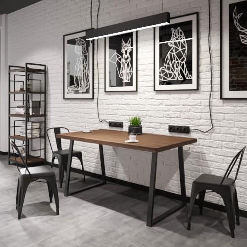 Стол обеденный Бинго Оверлайт 120х75 Металл-дизайн