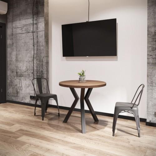 Стол обеденный Свен D80 (3 ноги) Металл-дизайн