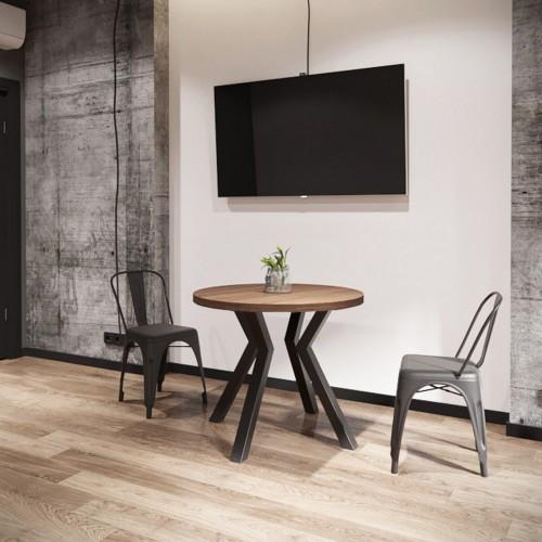 Стол обеденный Свен D80 (4 ноги) Металл-дизайн