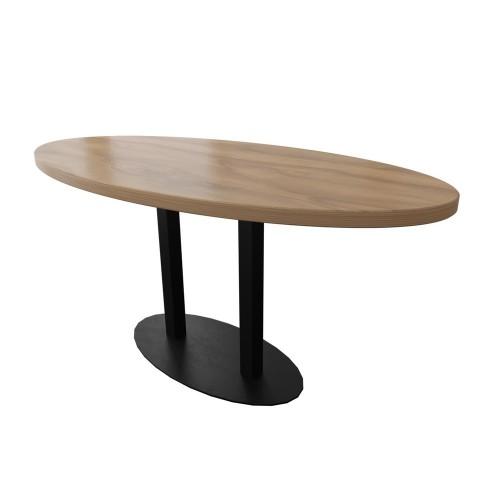 Стол двойной Тренд-2 120х75 (овал) Металл-дизайн