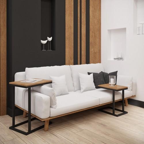 Комплект журнальных столов Кофе Брейк 2в1 60 Металл-дизайн
