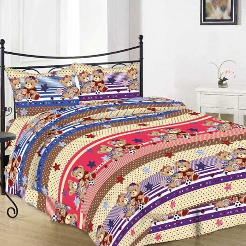 Комплект постельного белья Руно полуторный 10-0501 brown_1 бязь набивная