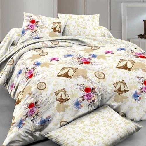 Комплект постельного белья Руно полуторный Paris сатин набивной