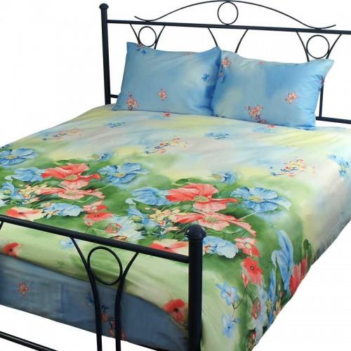 Комплект постельного белья Руно двойной Summer flowers сатин набивной