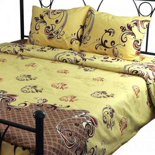 Комплект постельного белья Руно евро 40-0616 Beige бязь набивная