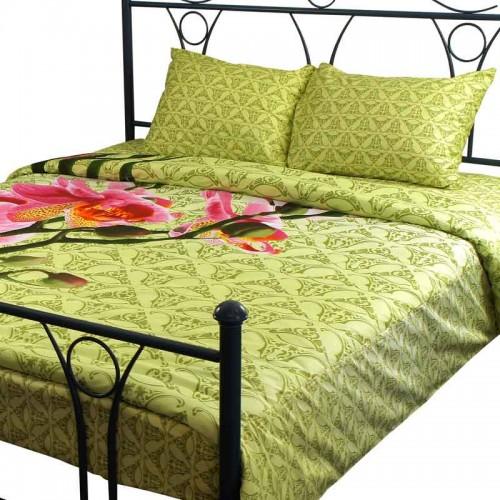 Комплект постельного белья Руно евро 20-1316 green сатин набивной