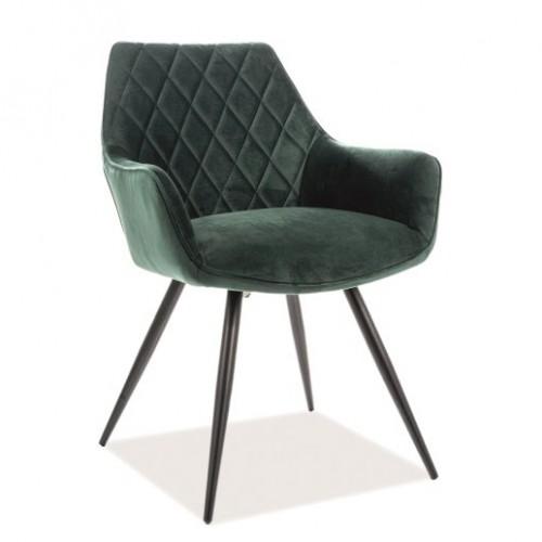 Кресло Linea Velvet зеленое Signal-k
