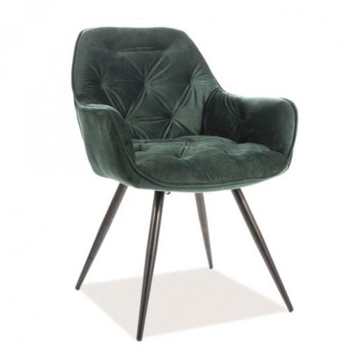 Кресло Cherry Velvet черный/зеленый Signal-k